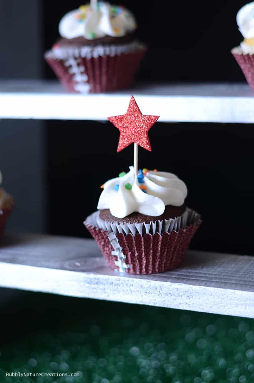 Football Party Cupcakes!  #cbias #shop #OneBuyForAll