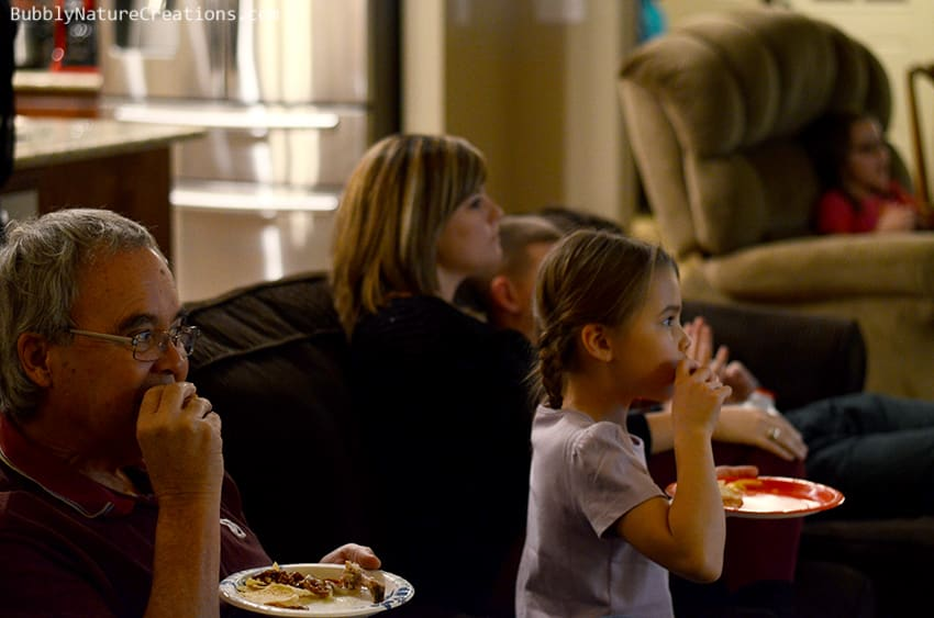 People eating and watching football.  #cbias #shop #OneBuyForAll