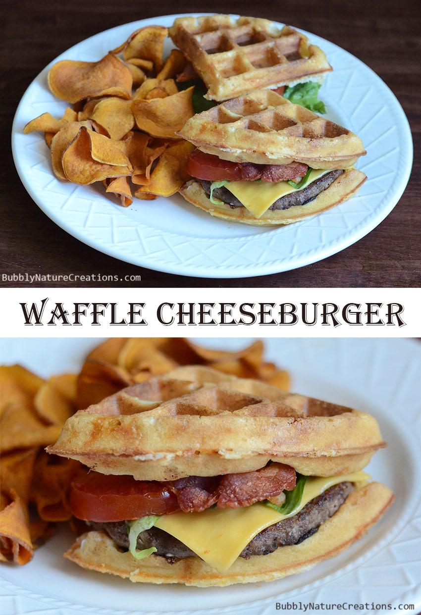 Waffle Cheeseburger! The cheese waffle bun makes this burger amazing! #shop #SayCheeseBurger #CollectiveBias