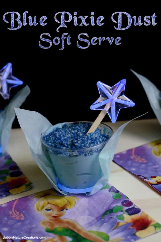 "Blue Pixie Dust Soft Serve! Based off of Disney's ""The Pirate Fairy""! #shop #ProtectPixieHollow #cbias"