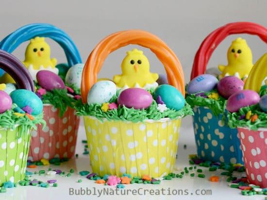 Easter Basket Cupcakes!