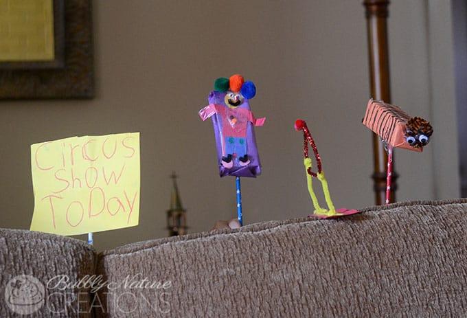 Juicy Juice Box Circus Puppets!! Reuse those Juice Boxes!  #UltimatePlaydate  #shop