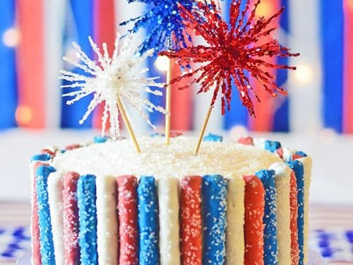 Awesome 4Th Of July Sparkler Cake Sprinkle Some Fun Funny Birthday Cards Online Necthendildamsfinfo