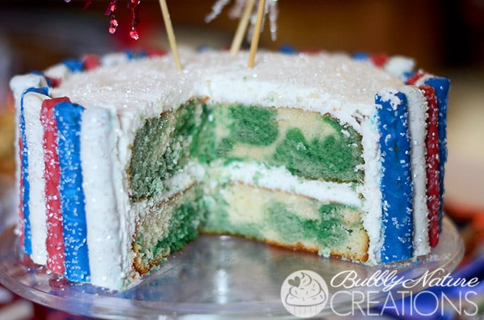 Sparkler Cake for 4th of July!