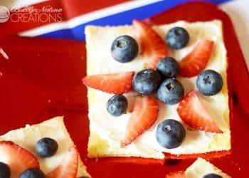 Patriotic Mini Fruit Pizzas!