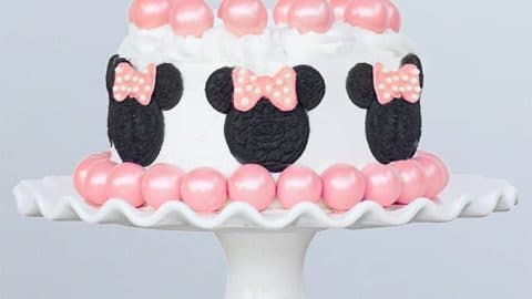 Astonishing Minnie Mouse Cake Sprinkle Some Fun Personalised Birthday Cards Veneteletsinfo