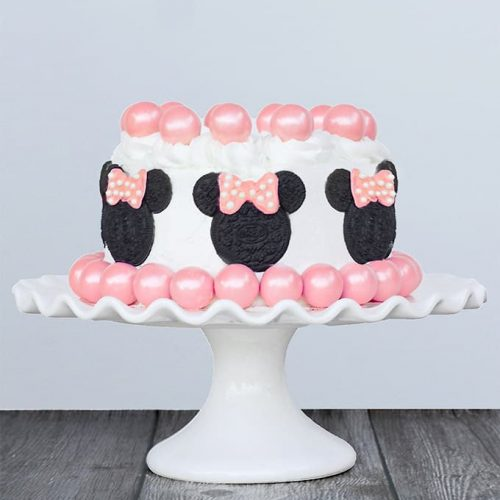 Sensational Minnie Mouse Cake Sprinkle Some Fun Funny Birthday Cards Online Alyptdamsfinfo