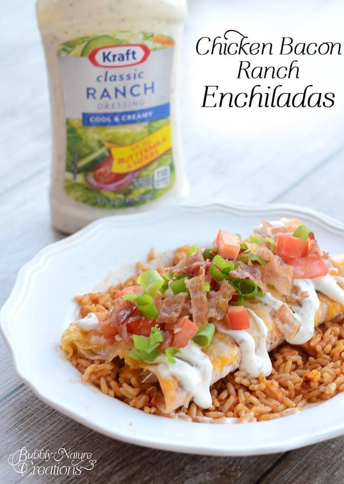 Chicken Bacon Ranch Enchiladas!  A flavorful twist from traditional enchiladas!
