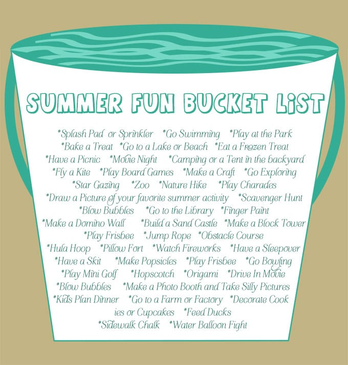 Summer Fun Bucket List Brown!sm