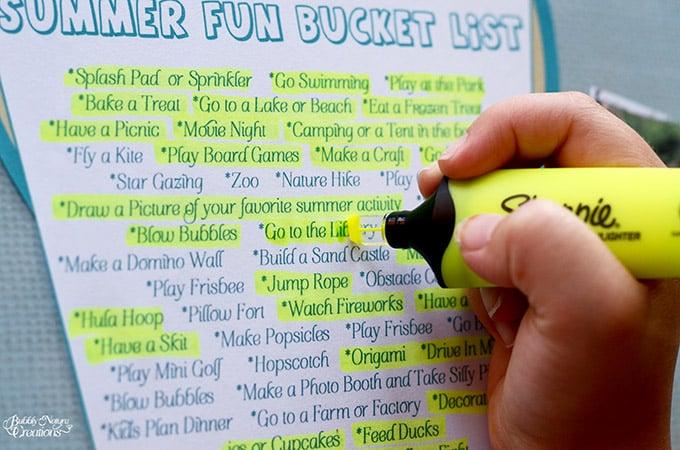 Summer Fun Bucket List!!!