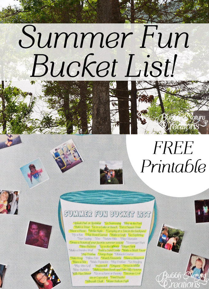 Summer Fun Bucket List!