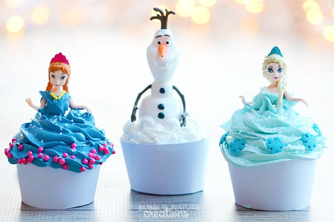 Disney FROZEN Cupcakes Anna Elsa And Olaf Sprinkle