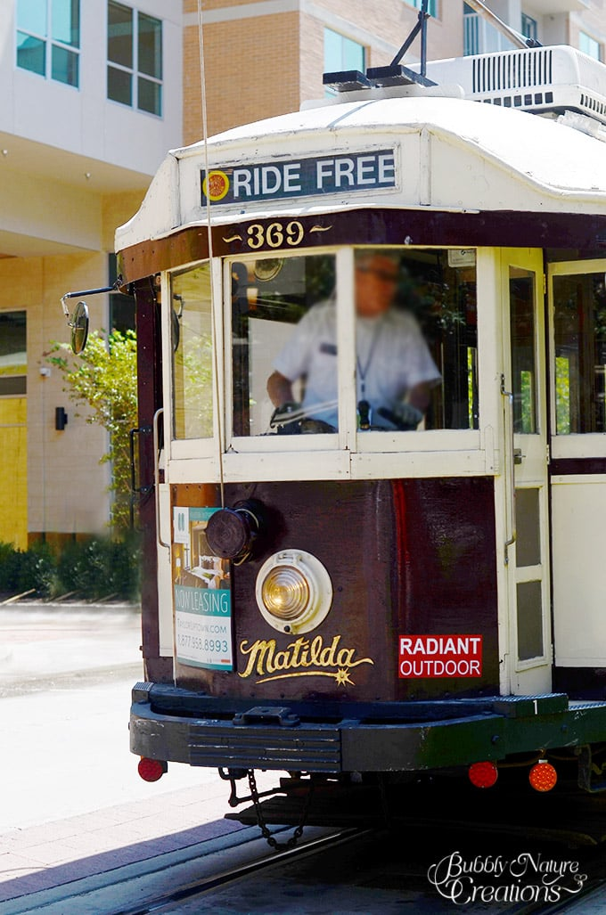 Free Trolley at West Village in Dallas