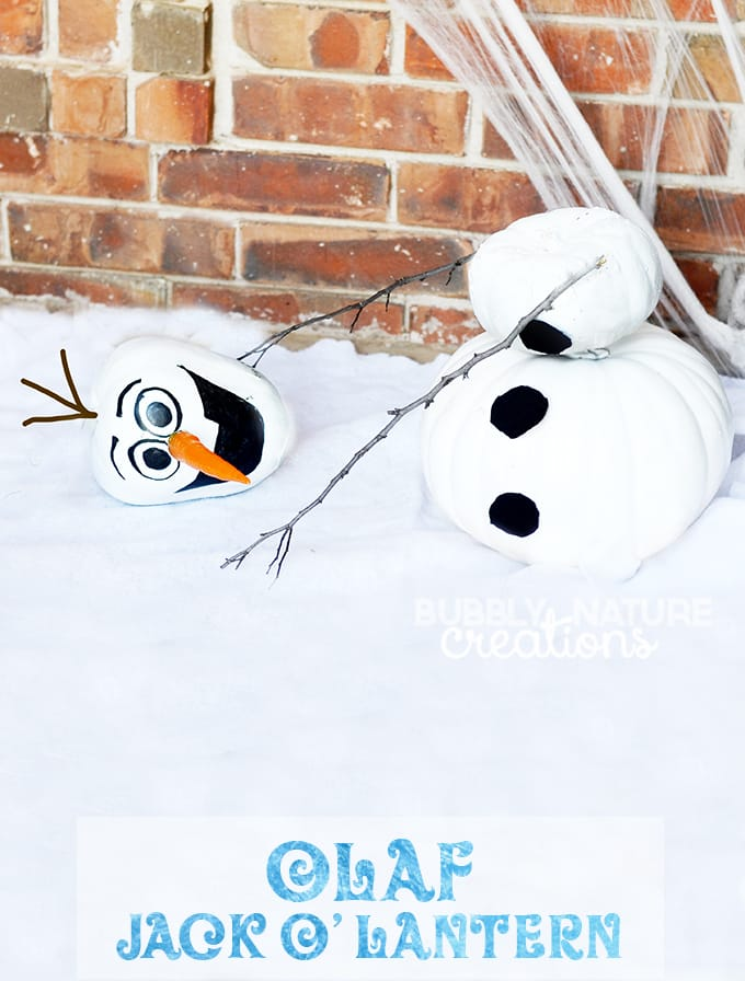 Olaf Jack-O-Lantern! Cute and simple to make!