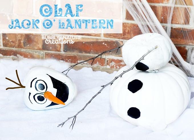 Olaf Jack-O-Lantern... super cute and easy! FROZEN Halloween!