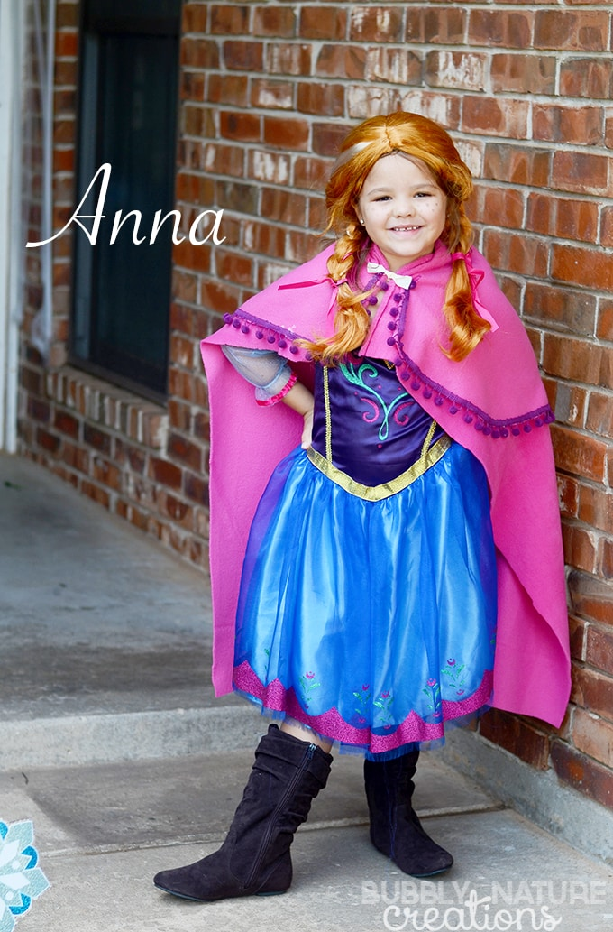 Anna Easy Frozen Cape for a custom look!