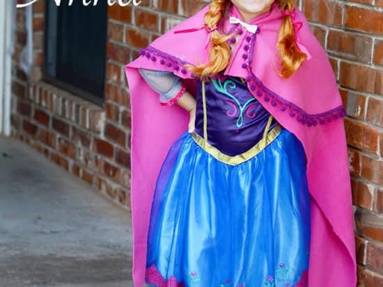 DIY Disney FROZEN Anna No-Sew Cape!