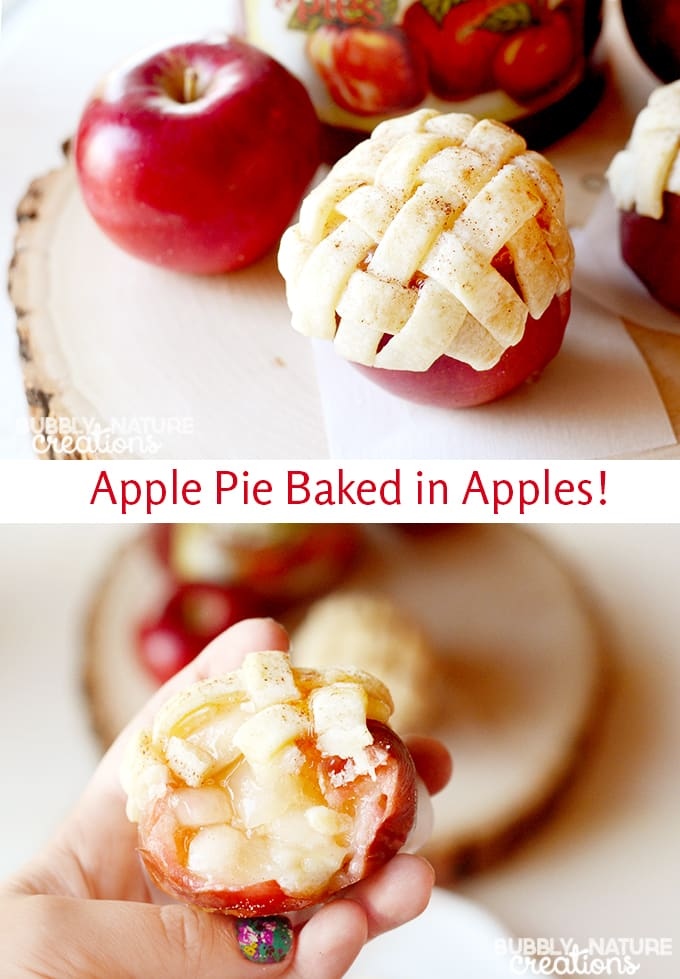Apple Pie Baked in Apples! 3 Ingredients and so easy!