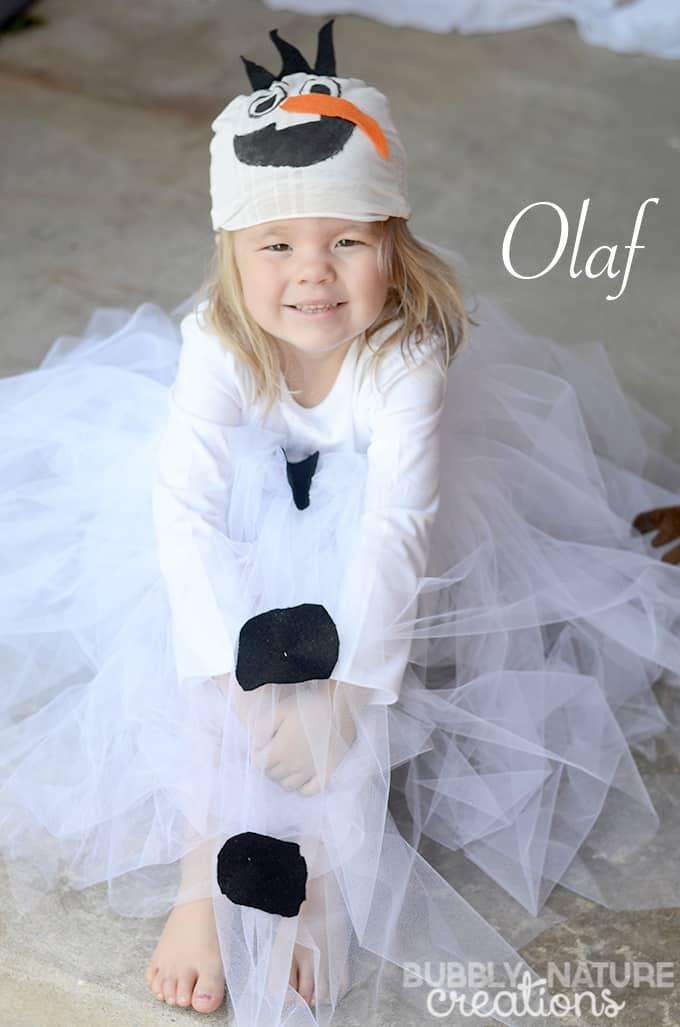 Easy Olaf Tutu Costume!