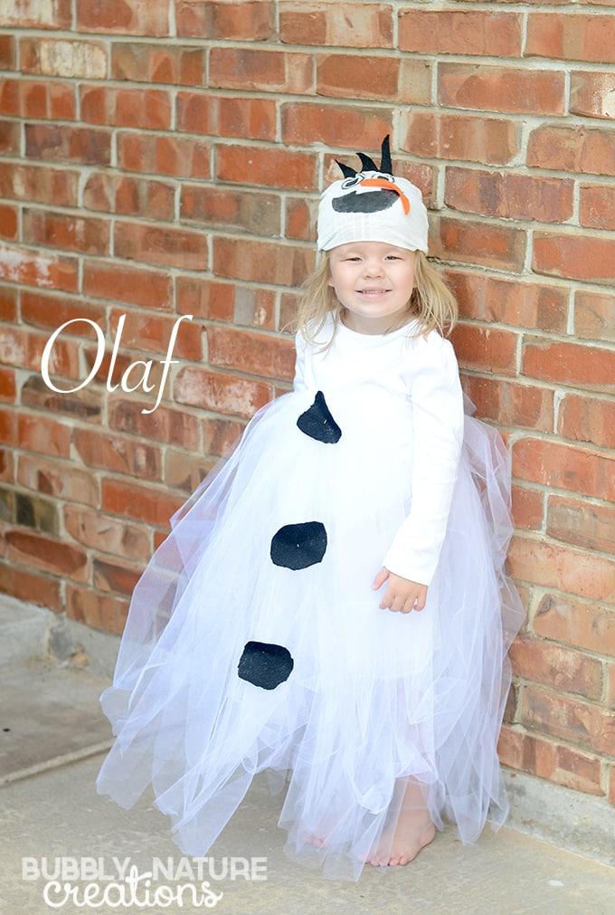 Easy Olaf Tutu Costume! So cute!