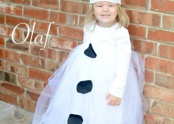 Easy Olaf Tutu Costume! So cute!
