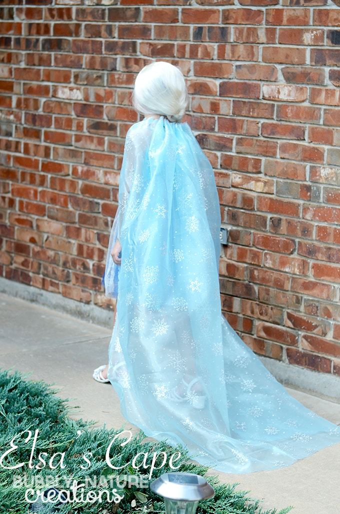 Elsa's Cape! Make a Custom Elsa Cape to spruce up a cheapie costume!