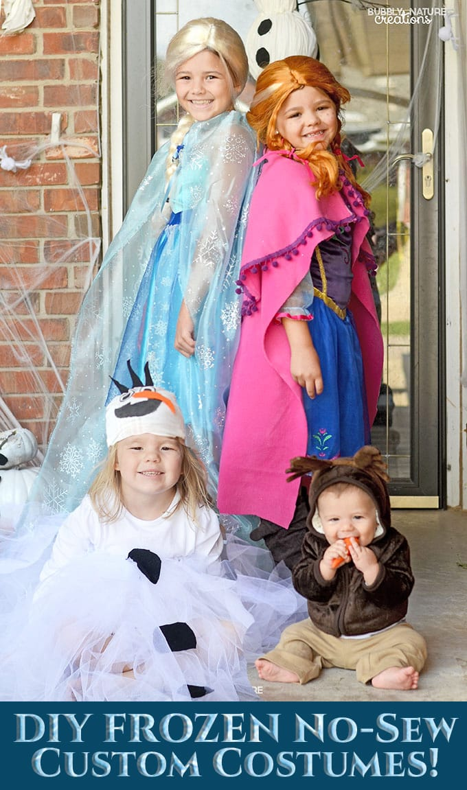 Frozen Halloween Costumes! So easy and fun!