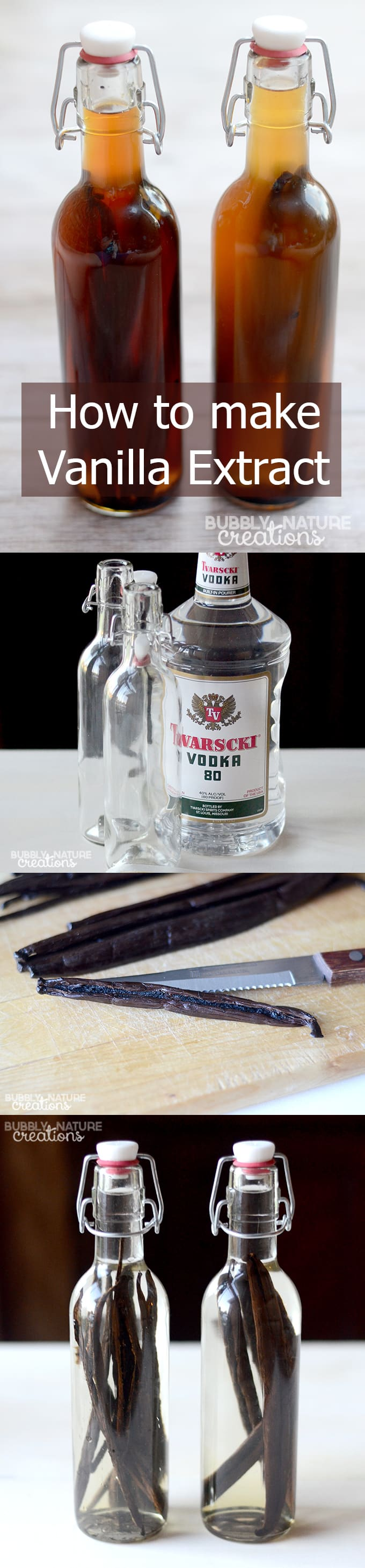 How to Make Vanilla Extract! Just in time for Christmas gift giving!  This simple tutorial explains it all in detail!