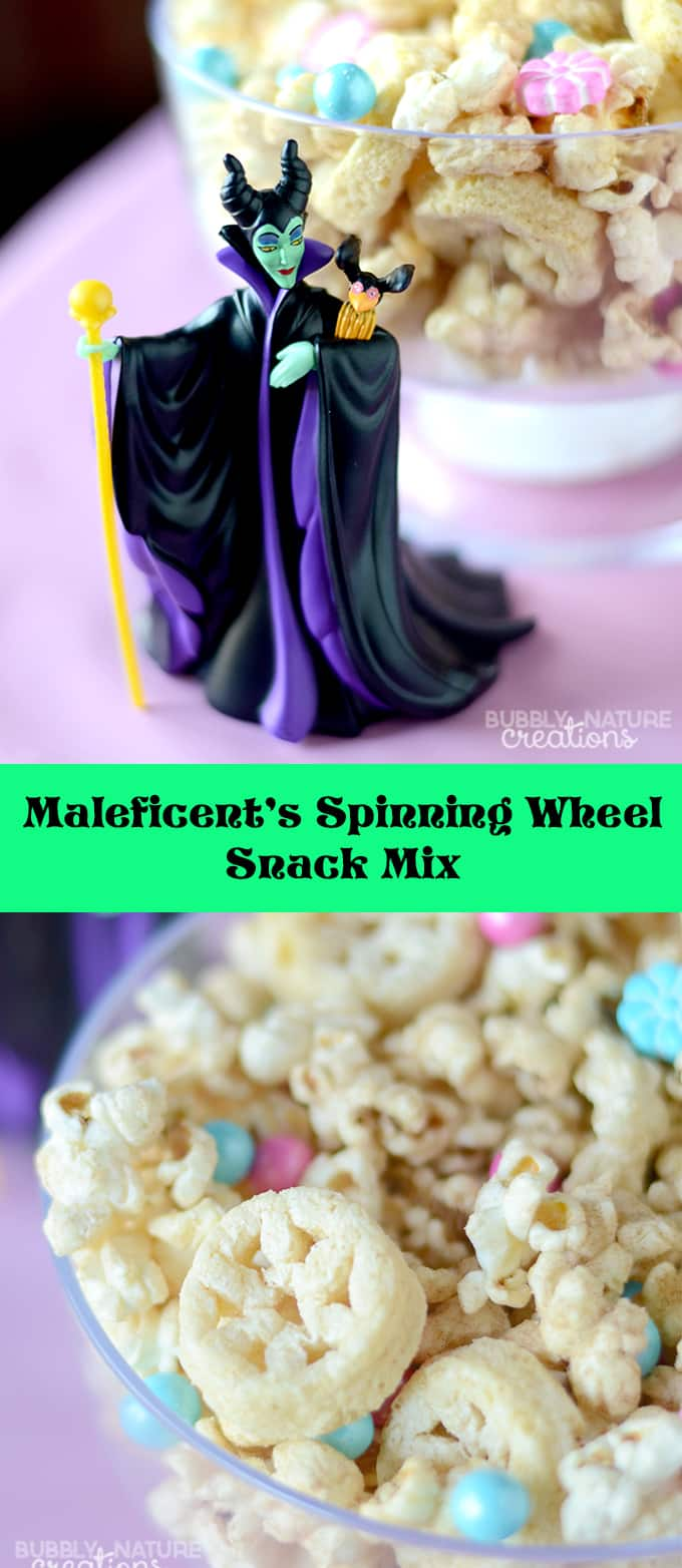 Maleficent's Spinning Wheel Snack Mix for a Sleeping Beauty Party!  #DisneyBeauties #CollectiveBias #shop