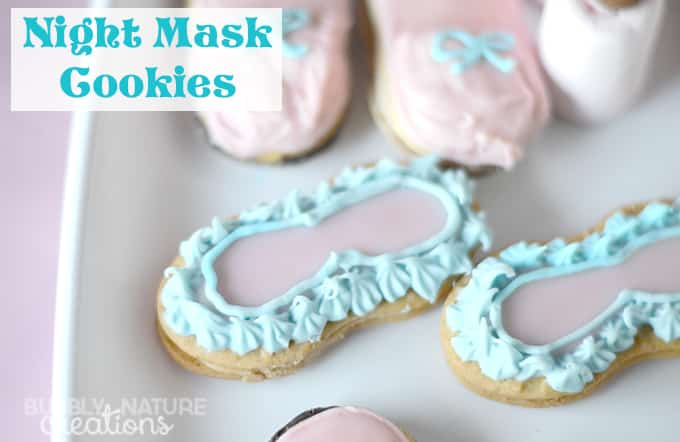 Night Mask Cookies for a Sleeping Beauty Slumber Party made from Nutter Butters! Su cute! #DisneyBeauties #CollectiveBias #shop