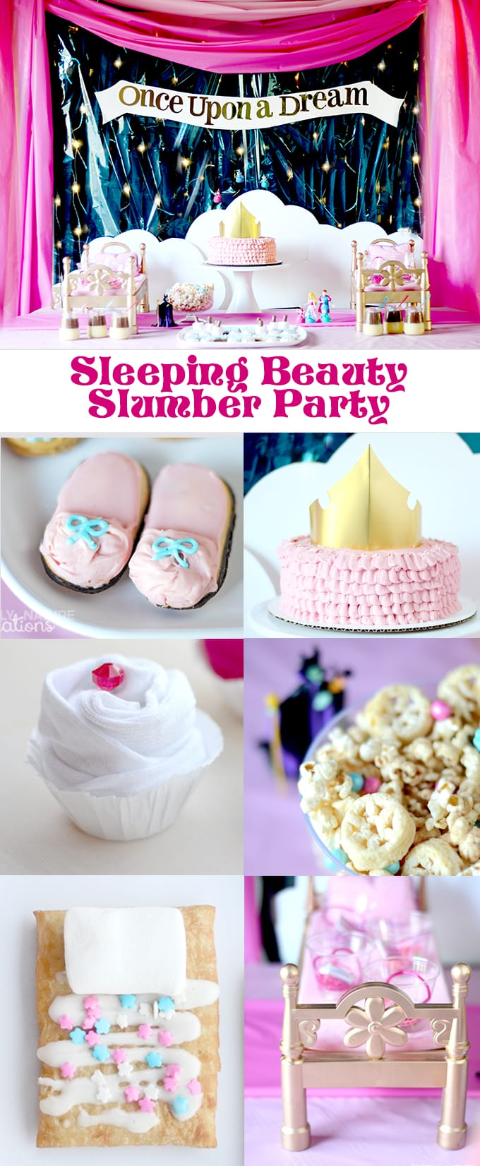 Christmas Slumber Party Ideas Part - 48: Sleeping Beauty Princess Slumber Party! Best Slumber Party Ideas With Such  Cute Themed Treats!