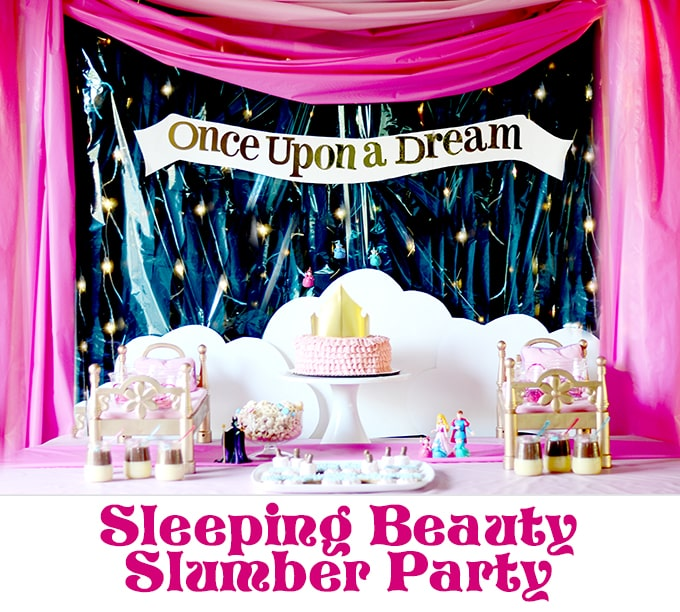 Sleeping Beauty Slumber Party! Awesome party ideas for any princess!  #DisneyBeauties #CollectiveBias #shop