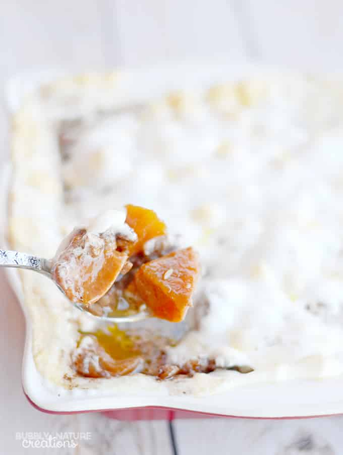 Candied Sweet Potatoes with Toasted Pecans and Marshmallows!  A Thanksgiving Comfort Food!