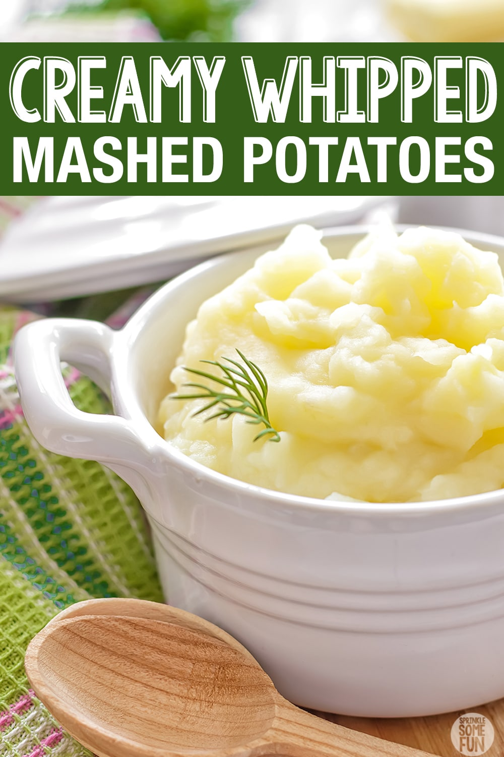 Buttery and creamy whipped potatoes