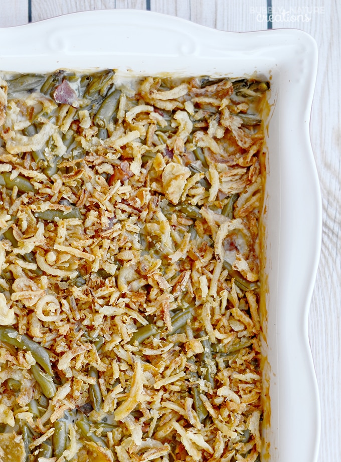 Green Bean Casserole with Bacon! A Classic with a Twist!