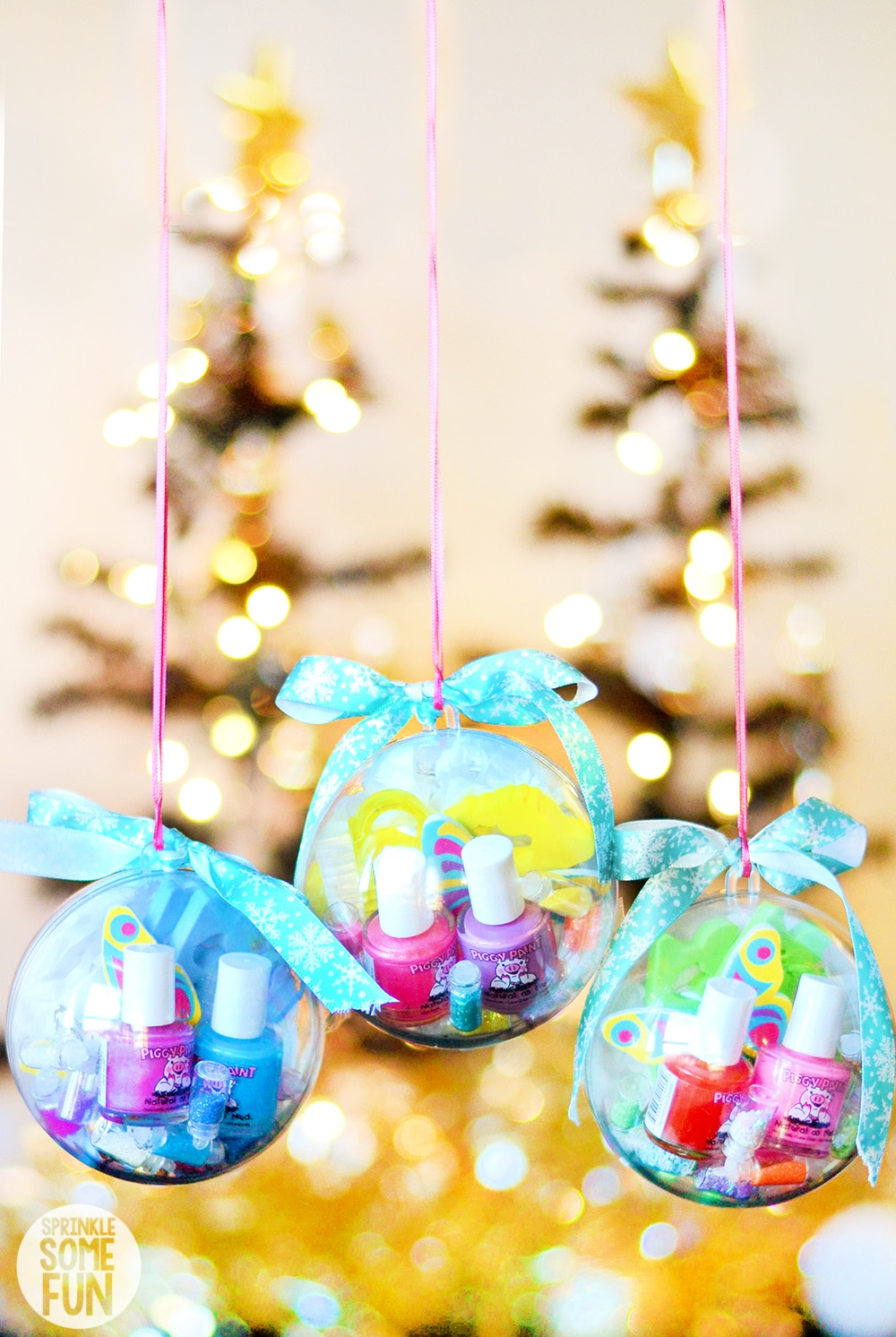 Ornaments with nail kits