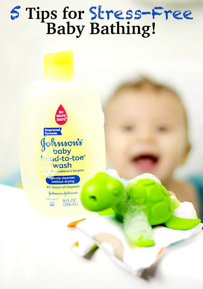 5 Tips for Stress-Free Baby Bathing! #johnsonspartners #ad