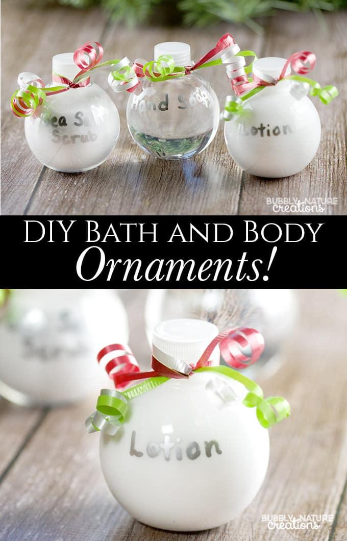 DIY Bath and Body Ornaments!!