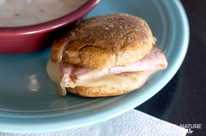 Grilled Ham and Cheese with Herbs and Butter