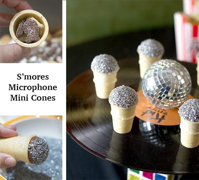 S'mores Microphone Mini Cones!