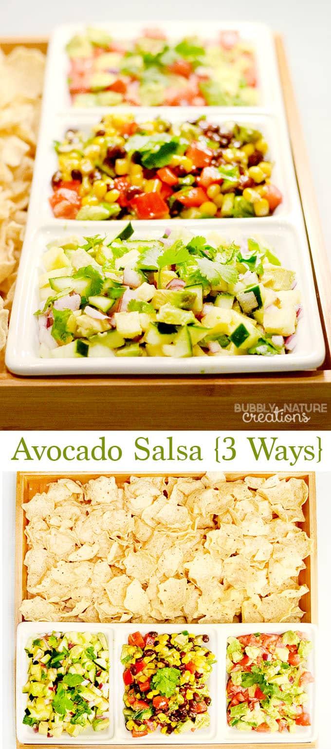 3 delicious recipes for Avocado Salsa!