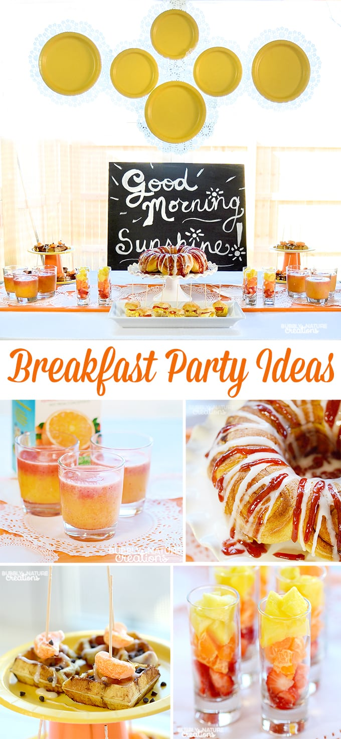 Breakfast Party Ideas!! Easy Breakfast Ideas for a fun morning get together or party!