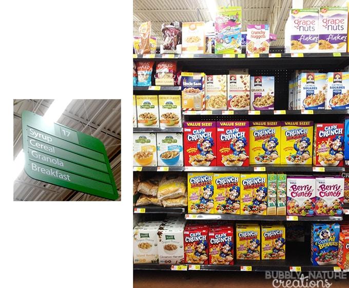 Cereal Isle at Walmart. Quaker Granola Cereal
