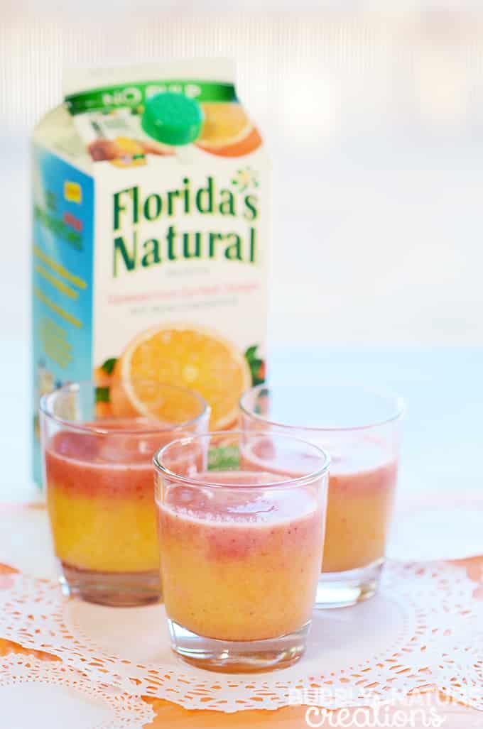 Florida Orange Juice Strawberry Orange Sunshine Chiller