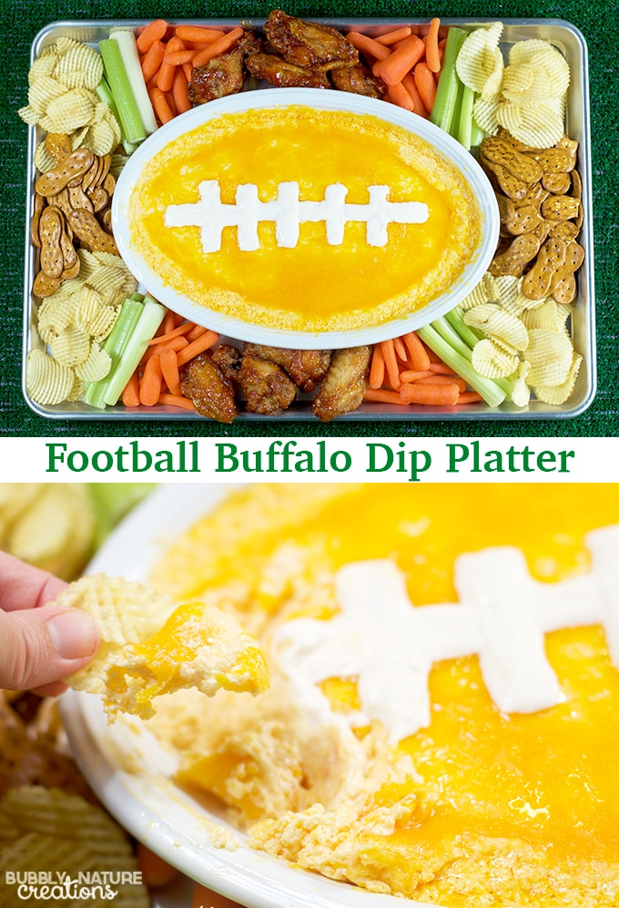 Football Buffalo Dip Platter!!
