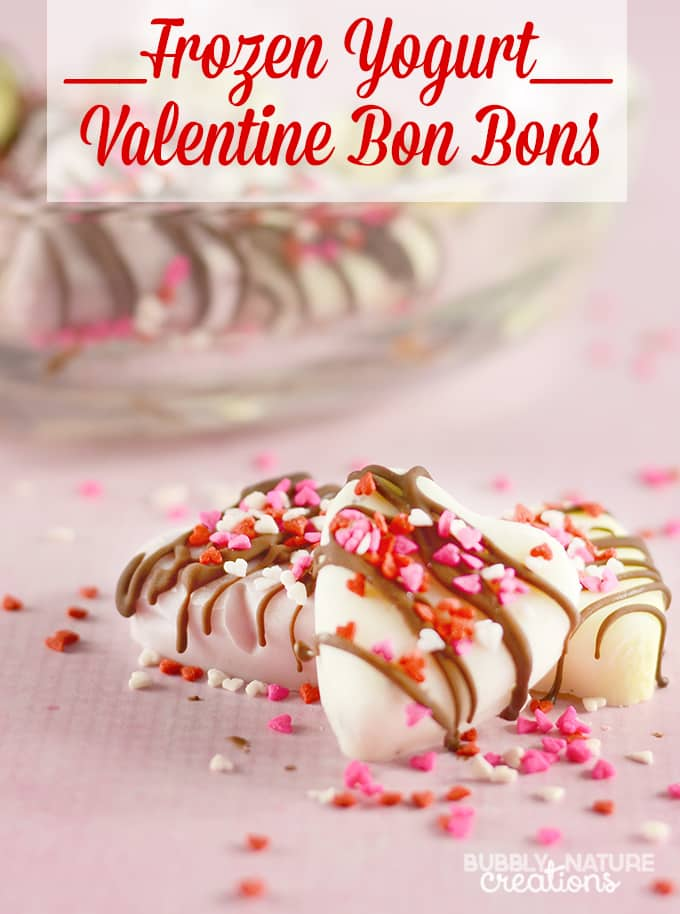 Frozen Yogurt Valentine Bon Bons!!! Made with Ice Cream Flavored Yogurt! Easy Snack Idea