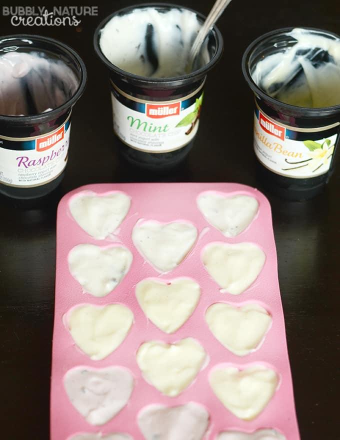 Frozen Yogurt Valentine Bon Bons! Made with Ice Cream Flavored Yogurt!