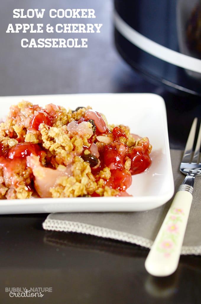 Slow Cooker Apple & Cherry Casserole.!! Great sidedish, breakfast or dessert!  copy