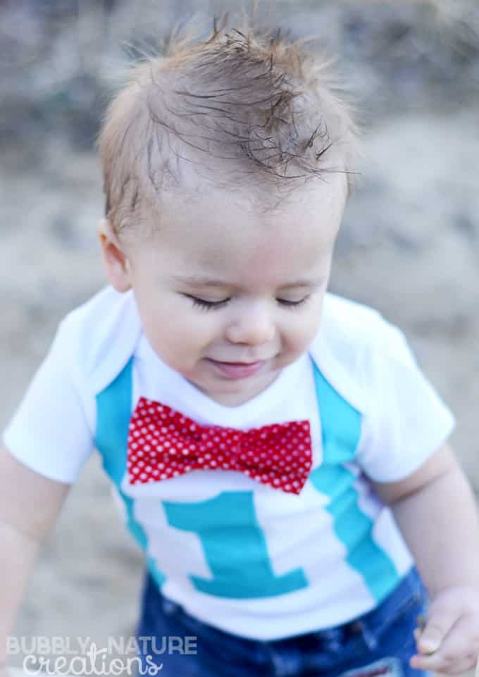 Baby Boy with Red Bow Tie