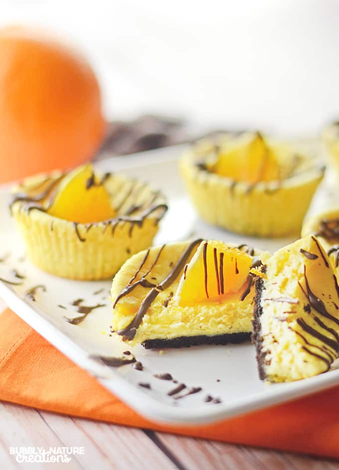 Chocolate Orange Mini Cheesecakes!